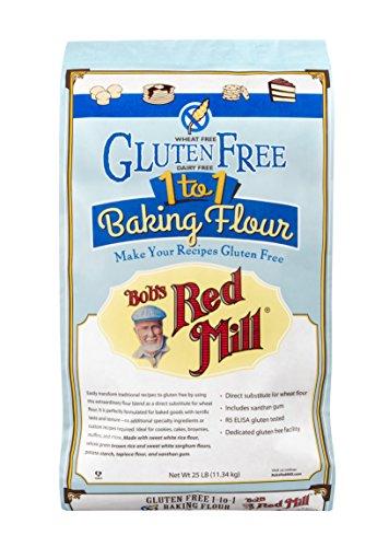 Bob's Red Mill Gluten Free 1-to-1 Baking Flour, 25 Pound