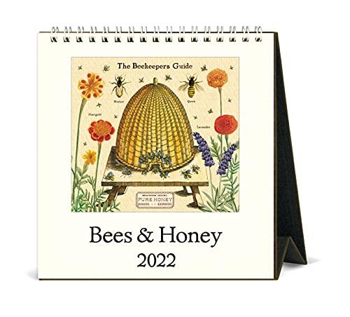 Cavallini 2022 - Calendario de escritorio, diseño de abejas vintage y miel (CAL22-1)