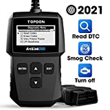 TT TOPDON TOPDON AL200 Code Reader with OBD2 Functions Including Turning Off MIL, Checking I/M Readiness and Retrieving Vehicle Information