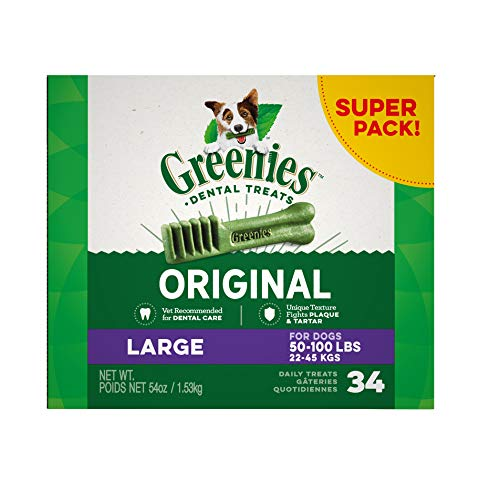 GREENIES Original Large Dog Natural Dental Treats - 54 Ounces 34 Treats
