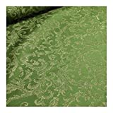 Stoff am Stück Stoff Polyester Jacquard Ornament grün