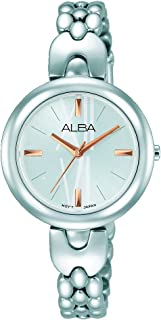 Alba Analog Watch For Women - Stainless Steel , Silver - Ah8333X
