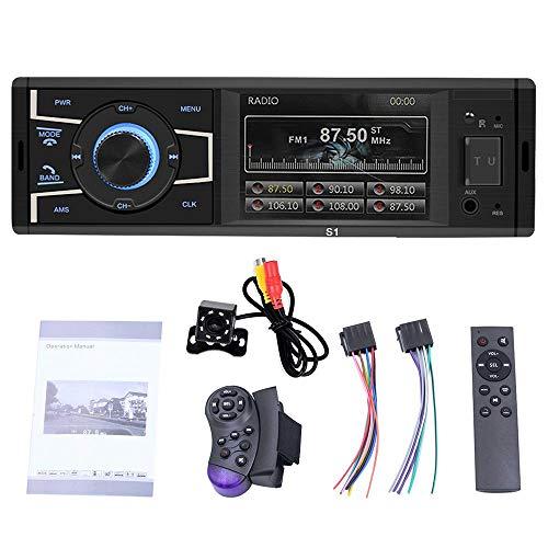 Volwco estéreo de 3,2 Pulgadas para Coche, Radio FM, Reproductor de vídeo, Bluetooth, Manos Libres, Llamadas MP3/MP5/FM/USB/AUX, con Mini cámara de Seguridad y Mando a Distancia