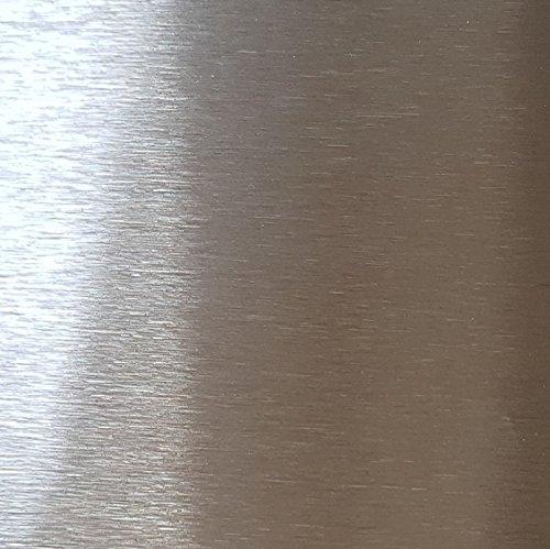 Edelstahlblech geschliffen K240 2 Meter lang 0,8 mm stark Edelstahl Platte V2A 1.4301 (10 cm breit)