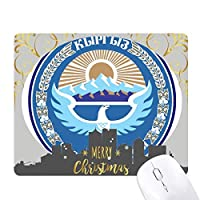 キルギスタンアジア国家エンブレム クリスマスイブのゴムマウスパッド