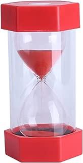 Fdit Hourglass Sand Timer 3/10/20/30/60 Minutes Timer Set Sandglass Timer Romantic Home Office Decor (30 mins Red)