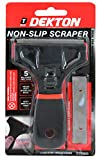 Suave Antideslizante Grip Seguridad Ventana Espátula Con 5 Hojas. Ideal para quitar etiquetas & pintura de ventanas