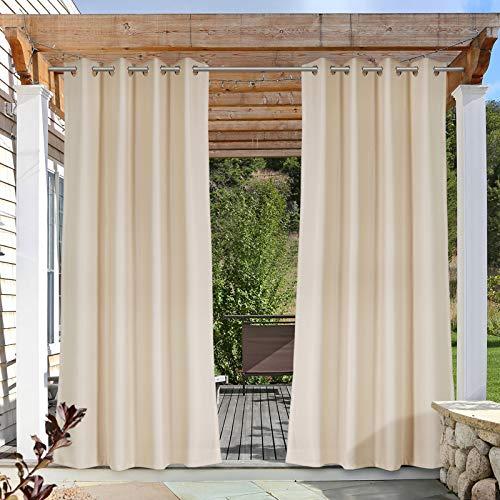 Tende da Esterno con Occhielli, Tende impermeabili opache, protezione dal vento e dai raggi UV, 1 Pezzo, 140*245 cm, Khaki
