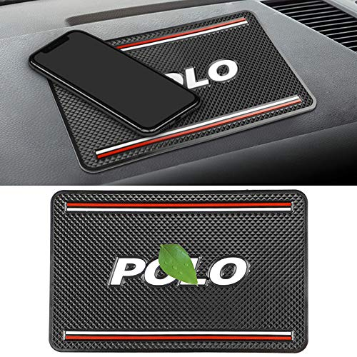 Almohadillas Adhesivas Antideslizantes para AutomóViles, con Logotipo, Alfombrillas Antideslizantes, para VW Polo Passat B6 B7 Touaregu Tiguan Beetle, Lavables, Reutilizables, Soporte Para TeléFono