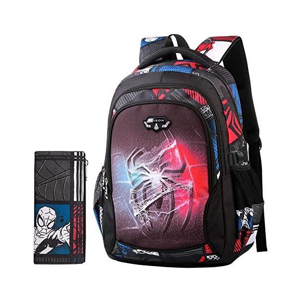 51 ujq56r L. SS600  - Bag Set Mochila para Niños Spiderman 6-12 Años Niño Y Niña Dibujos Animados Anime Mochila Mochilas Escolares Primarias Y…