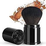 ENERGY rétractable Kabuki poudre brosse voyage visage Blush Bronzer brosse de maquillage avec couvercle Portable pour polir l'outil cosmétique en poudre sans défaut noir