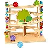 solini Kugelbahn Waldtiere / Murmelbahn / Spielzeug aus Holz für Kleinkinder ab 18 Monate / bunt - solini