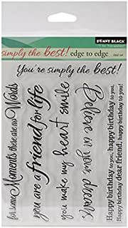 Penny Black Decorative Rubber Stamps, Edge to Edge