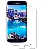WISMURHI Protector de Pantalla para Samsung Galaxy S7, [2 Pack] Cristal Templado para Samsung Galaxy S7, Alta Definicion/9H Dureza/Anti Arañazos/Sin Burbujas Vidrio Templado Película para Galaxy S7