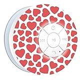 Aduro AquaSound WSP20 Shower Speaker, Portable Waterproof Wireless Bluetooth Speaker (Hearts)