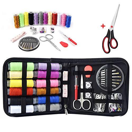 Kit de costura para máquina de coser completo 75pcs / set para viajes en casa Agujas Hilo y otros materiales Mini caja Bolso DIY Kit de costura profesional