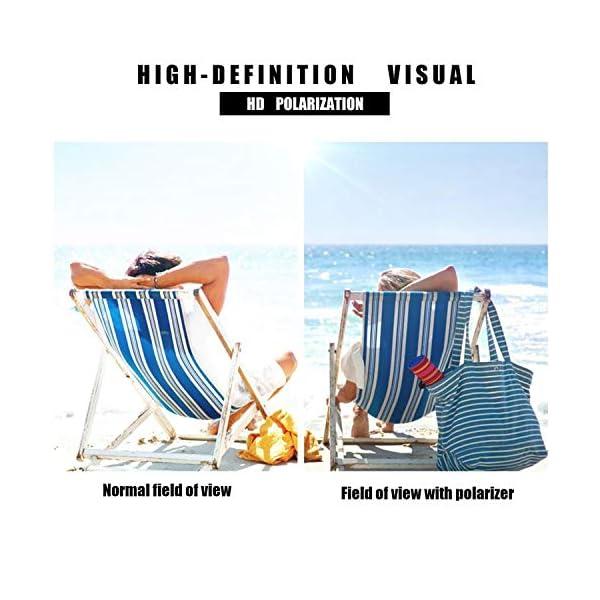 VEOAY Polarized Sunglasses for Men and Women, Al-Mg Metal Frame Ultra Light 100% UV Blocking Sports Sun glasses