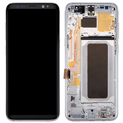 Reparatie onderdelen compatibel met Samsung Galaxy S8+ / G955 LCD-scherm + touchscreen met frame telefoon accessoire, ZILVER