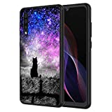 Galaxy A10E Case, AIRWEE Slim Shockproof Silicone TPU Back Protective Cover Case for Samsung Galaxy A10E,Hipster Cat Galaxy