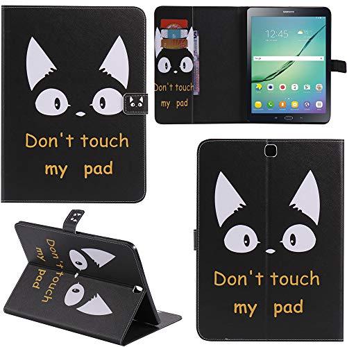 Ooboom® Samsung Galaxy Tab S2 8.0 Hülle Flip PU Leder Schutzhülle Tasche Hülle Cover Wallet Standfunktion mit Kartenfächer für Samsung Galaxy Tab S2 8.0 T715 - Katze