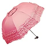 Honeystore Princess Lace Ultraviolet-Proof Folding Umbrella Anti-uv Dome Parasol Watermelon