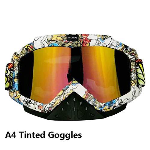 VCOROS Adult Youth ATV MX Motocross Goggles For Men (A4 Rainbow Lens)