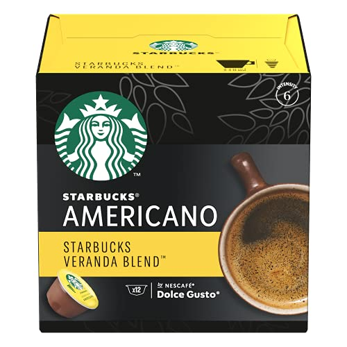 Starbucks Coffee by Nescafe Dolce Gusto, Starbucks Veranda Blend Americano, Coffee Pods, 12 capsules, Pack of 3 (Packaging May Vary)