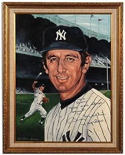 BILLY MARTIN signed ORIGINAL PAINTING ROBERT STEPHEN SIMON Baseball NY Yankees