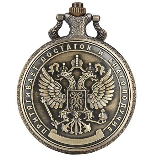 JTWMY Réplica de la Insignia Conmemorativa del rublo Ruso de 1 millón de Monedas de rublo Plateado en Relieve de Doble Cara Colección Reloj de Bolsillo