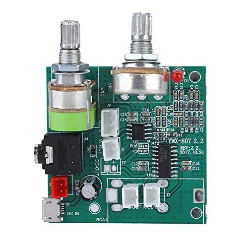 Pbzydu Placa amplificadora de Seguridad de Doble Canal práctica y práctica de 20 W, Amplificador Digital, para Tarjeta de Escritorio, Audio, portátil