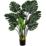 Artiflr 55' Artificial Monstera Deliciosa Plant Fake Tropical Palm Tree Perfect Faux Swiss Cheese Plant for Home Garden Office Store Decoration,13 Leaves