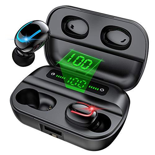 ワイヤレスイヤホン bluetooth ぶるーとーすイヤホン Bluetooth イヤホン LED電量表示HiFi高音質 Bluetooth5.0 瞬時接続 コードレスイヤホン 完全ワイヤレス イヤホン IPX7防水 自動ペアリング 音量調節 スポーツ ブ