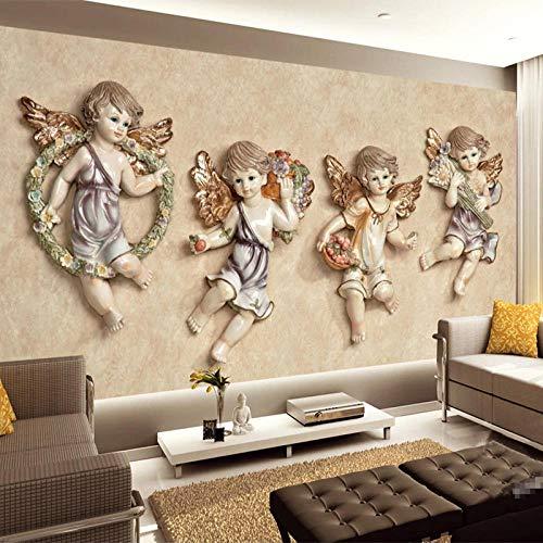 SFALHX 3D vliesbehang TV-kussens wandschilderijen porseleinen pop, figuurschilderij 3D Home Decoratie behang wandschilderij 200x140cm (B x H) 250 x 175 cm