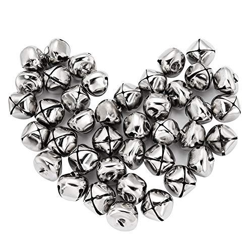 Suneast 100 cascabeles de Navidad de Metal, diseño de cascabeles Musicales, para decoración de Navidad,...