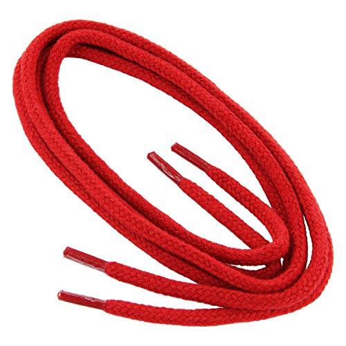 1 Paar Collonil Schnürsenkel Kordel - rund - dick - Ø 3 mm verschiedene Farben und Längen (75 cm, rot)