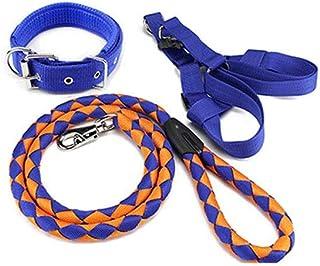 QTRT Pet Supplies Guinzaglio per Cani Large Medium Small Dog Chain Collar per Cani Teddy Golden Retriever Dog Rope (Color...