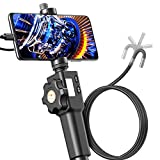 Two-way 180° articulation Inspection Camera, Teslong Borescope-Endoscope Camera, 3.3ft Cable with 8.5mm Dia, 8 Adjustable LED Lights, Snake Camera with Travel Case, Support iPhone & Android Smartphone