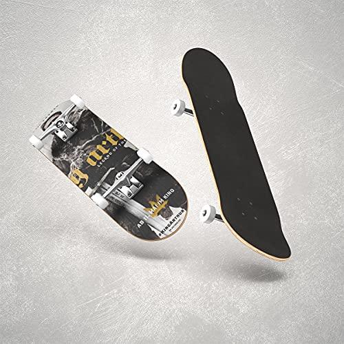 Skateboards Monopatín Completo de 31 inRey Arturo: Batalla de Las BestiasTabla Completa monopatines de con Doble Patada para Hombres y Mujeres jóvenes niños Adultos de la Calle principiantesArturo
