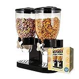 mikamax - Dispensador de copos de maíz - Rojo - Recipientes de cereales - Con 2 recipientes - 500 gramos - Accesorios de desayuno