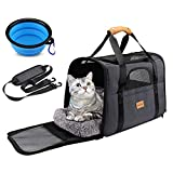 morpilot Cat Carrier, Portable Pet Carrier Bag for Cats and Small Dogs, Foldable Soft Sided Cat Transport...