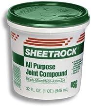 U S GYPSUM 380270072 U S Gypsum 380270 Quart Ready-To-Use Joint Compound, Off-White, 1.75 pt