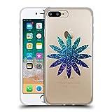 Head Case Designs Ufficiale PLdesign Blu Ombrato Floreale Scintillante Cover in Morbido Gel Compatibile con Apple iPhone 7 Plus/iPhone 8 Plus