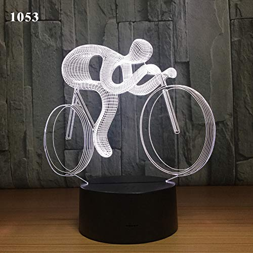 Nachtlicht des Rennwagens 3d / geführtes intelligentes Illusionslicht/bunte Atmosphäre der Inneneinrichtung Tischlampe/Sportgeschenk der Kinder