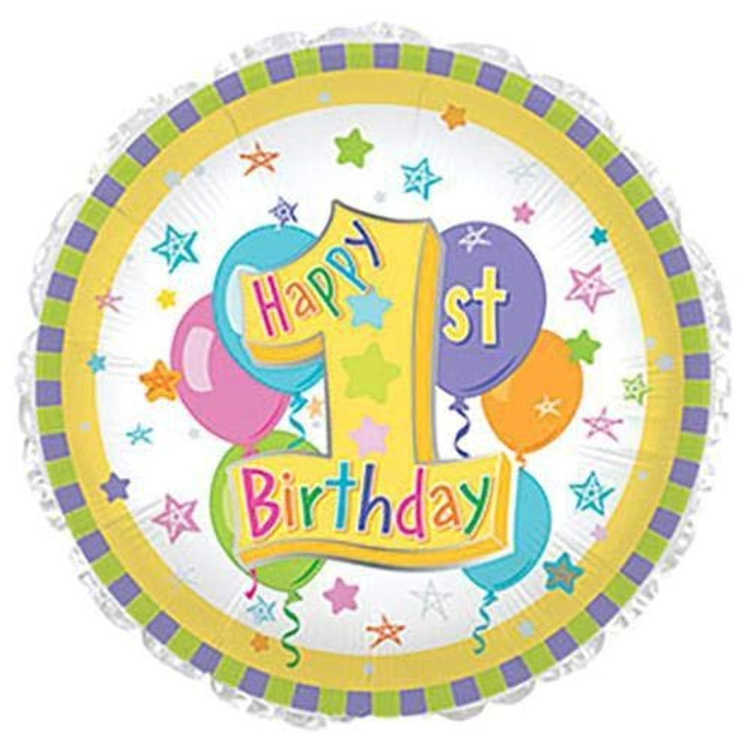 CTI Balloons Foil Balloon 114363 Pastel 1st Birthday, 17