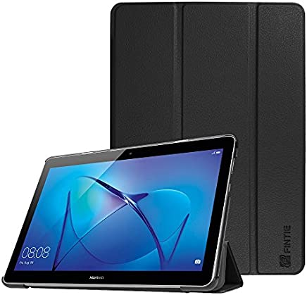 Huawei MediaPad T3 10 Case - Fintie Super Thin SlimShell Lightweight Stand Cover for Huawei MediaPad T3 10 9.6-Inch Android Tablet, Black