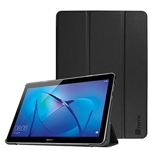 Fintie Hülle Hülle für Huawei Mediapad T3 10 - Ultra Dünn Superleicht Flip Schutzhülle mit Zwei Einstellbarem Standfunktion für Huawei MediaPad T3 (9,6 Zoll) 24,3 cm Tablet-PC, Schwarz