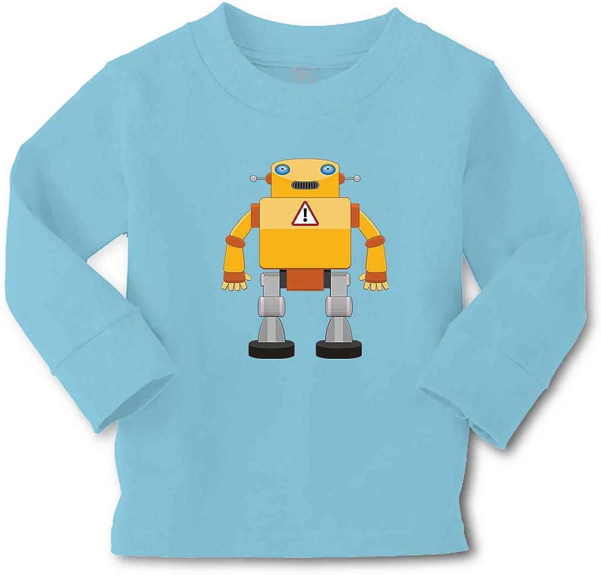 Cute Rascals Kids Long Sleeve T Shirt Robot Robotics Engineering Question Mark Cartoon Cotton