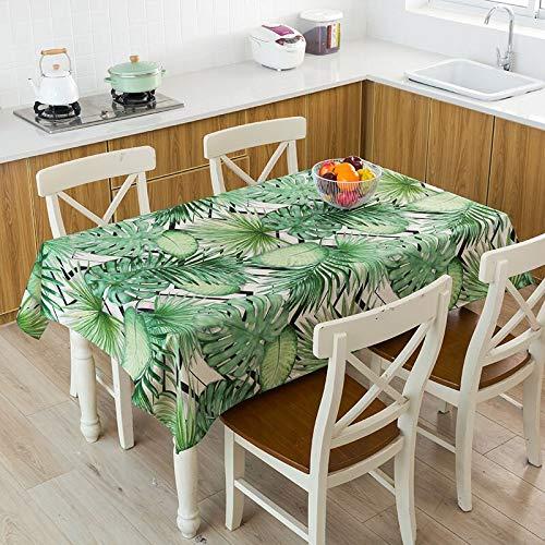 Mantel con Estampado de Hojas Mantel Rectangular de plástico Patrón de Cuadros Alfombra de Mesa de Centro D 140x220cm