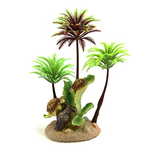 CENPEN Ornamento planta plástico decorativo Árbol terrario for reptiles y anfibios