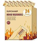 Supchamp Scaldamani, 24 PCS Hand Warmers, in Tasca per Le Mani, USA e Getta, Fino a 10 Ore di Calore, Cuscinetti di Calore per Le Mani, Attivati ad Aria Naturale, attività all'aperto Invernali